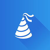 Birthday hat icon in Metro user interface color style. Object celebration head wear