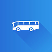 Bus icon in Metro user interface color style. Transportation travel trip