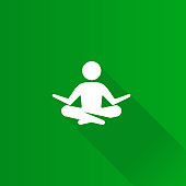 Meditation icon in Metro user interface color style. Concentration wellness health
