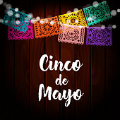 Mexican Cinco De Mayo Greeting Card Invitation Party Decoration String Of Lights