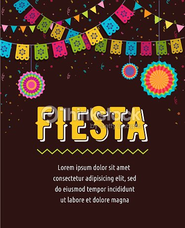 Mexican Fiesta Background Banner And Poster Design With