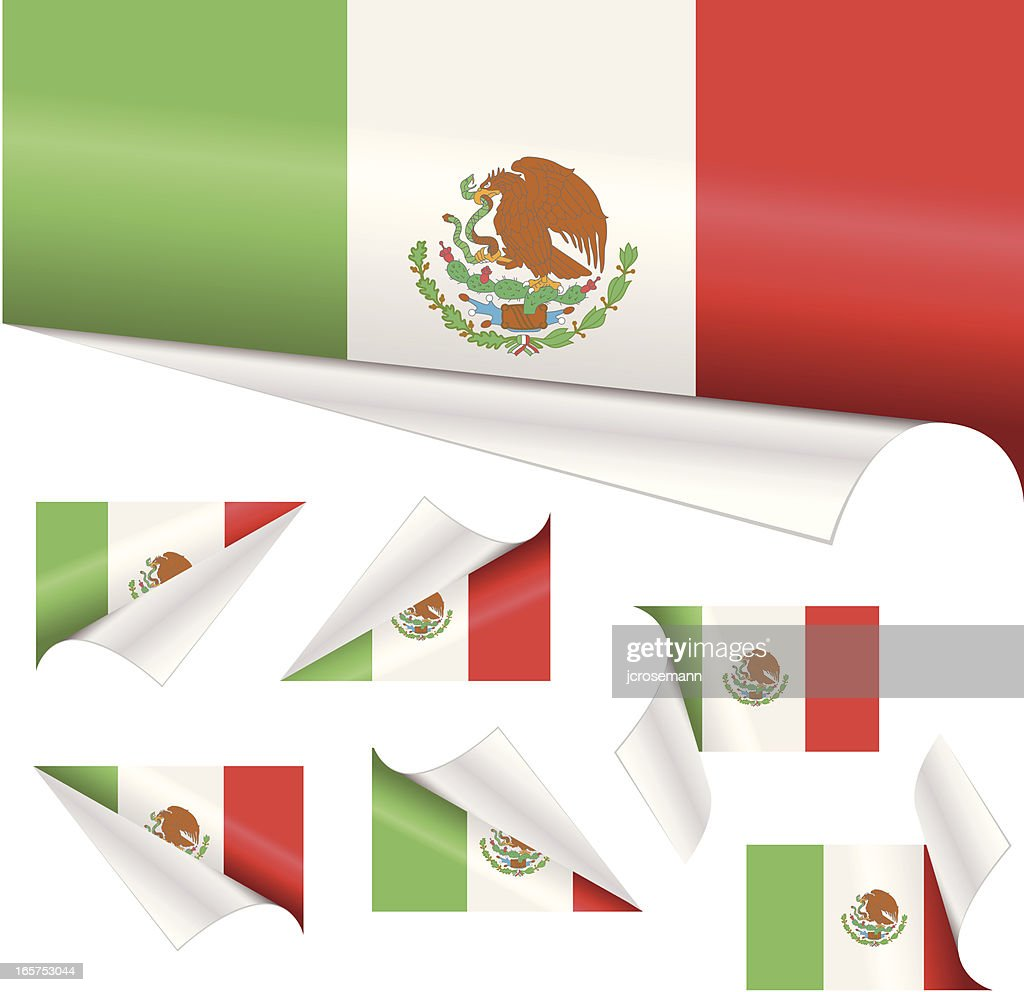 mexican paper flags