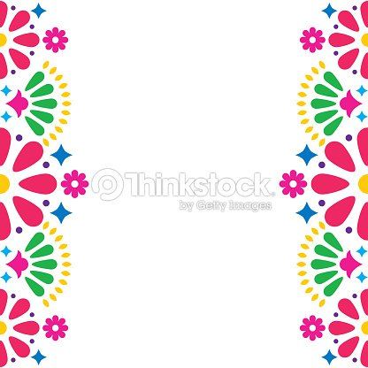 Mexican folk vector wedding or party invitation greeting card mexican folk vector wedding or party invitation greeting card colorful frame design with flowers and abstract shapes stopboris Image collections