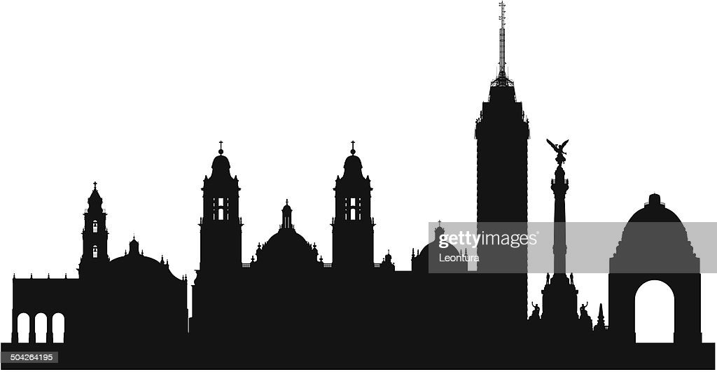Mexico City Skyline Vector Art