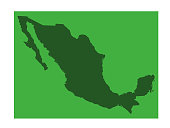 vector illustration of Mexico map