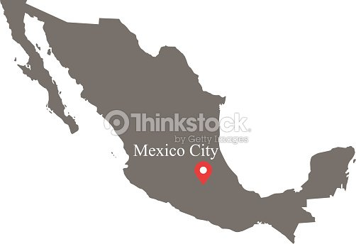 Mexico Map Vector Outline With Provinces Or States Borders And