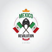 Mexico Revolution Day Vector Design.