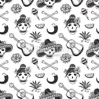 Dia De Los Muertos Day Of The Dead Mexican Background