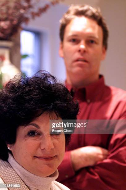 Michael Sweeney and Lauren Rosenzweig shown here at Lauren's home both lost their spouses in the 9/11 disasters