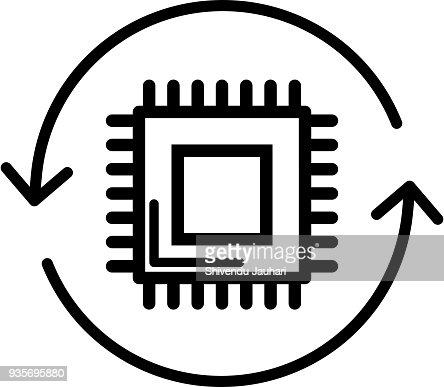 Microcontroller IOT Icon : stock vector