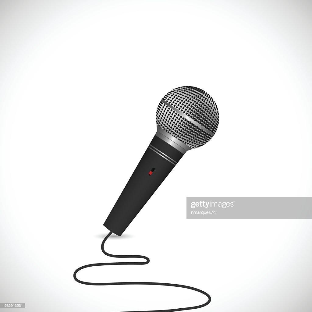 Microfone de ilustração : Arte vetorial