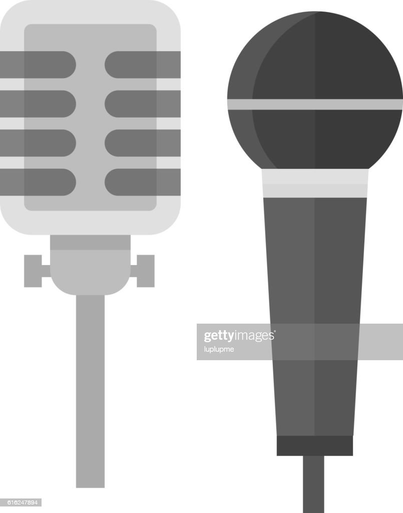 Microphone vector icon isolated : Vector Art