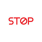 Stop sign icon vector design template