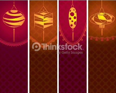 mid autumn lanterns banners vector art thinkstock