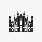 Milan Cathedral Vector Illustration eps 8 file format