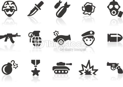 Military Icons Vector Art Thinkstock