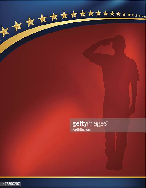 Forze armate soldato omaggio-Sfondo patriottico