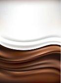 milk on brown chocolate background