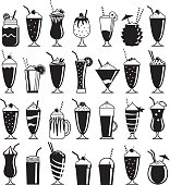 A collection of twenty-eight lovely milkshake icons.