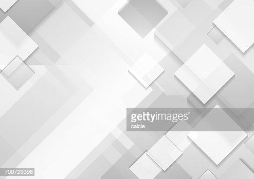 Minimal futuristic corporate tech grey white background : stock vector