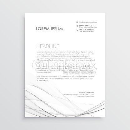 Briefkopf Minimal Design Mit Grauen Gewellte Form Vektorgrafik