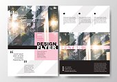 Minimal Poster Brochure Flyer design Layout vector template in A4 size