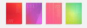 Minimal Vector covers design. Cool halftone gradients. Future geometric template illustration EPS10.