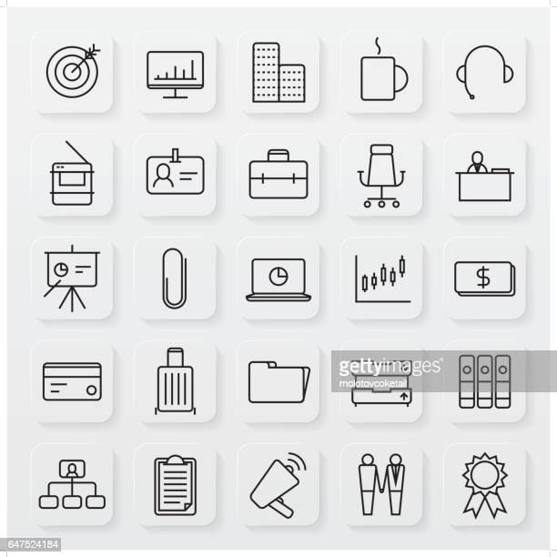 minimalistische Business-Linie-Icon-set