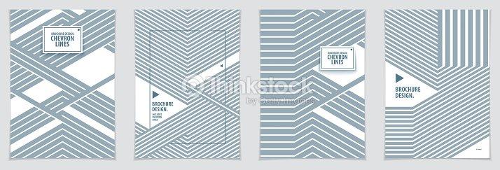 diseños de brochure portada minimalista patrones geométricos de
