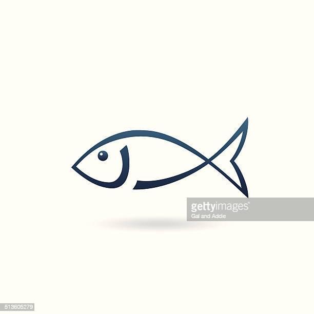 Minimalistic fish icon
