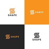Minimalistic Z icon icon sign linear design