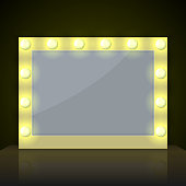 Make up mirror with light bulb