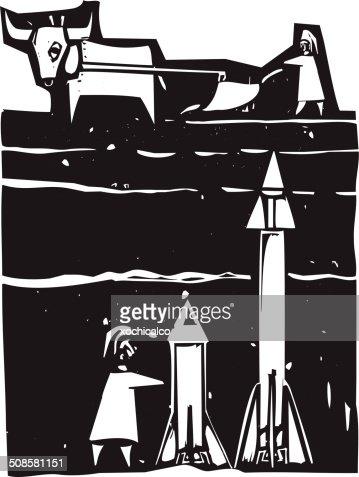 Missiles beneath : Vector Art