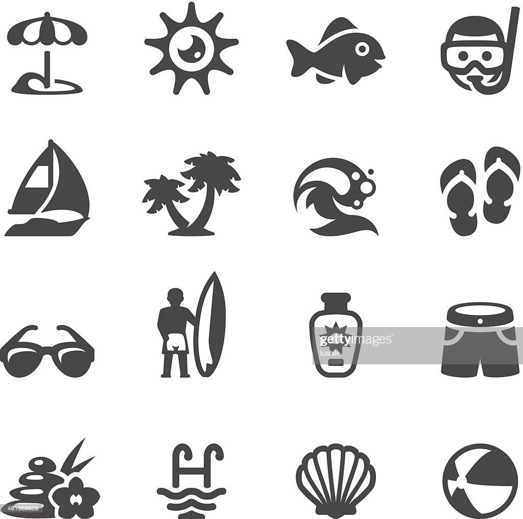 Mobico icons - Sun Beach : Vector Art