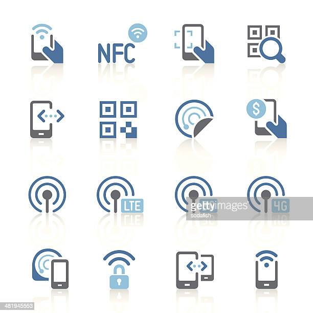 Mobile communication icons | azur series