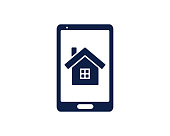 mobile home glyph icon , designed for web and app