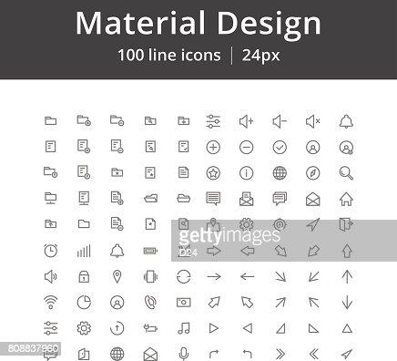 UI Mobile Line Icons : Arte vetorial