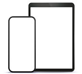 Smart Phone and Tablet Computer Vector Illustration Template.