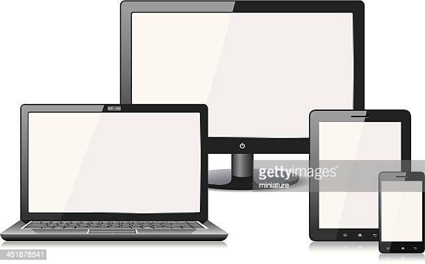 Mobile Phone , Digital Tablet , Laptop and monitor