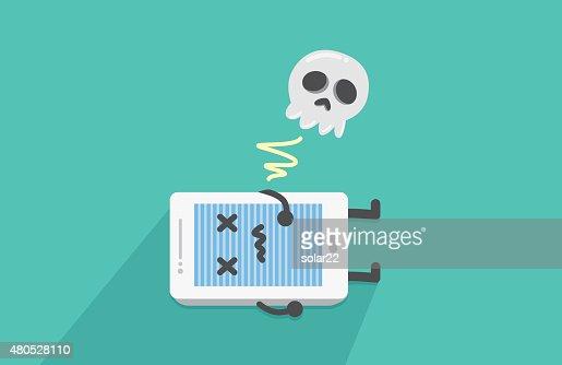 Mobile phone stop working : Vektorgrafik