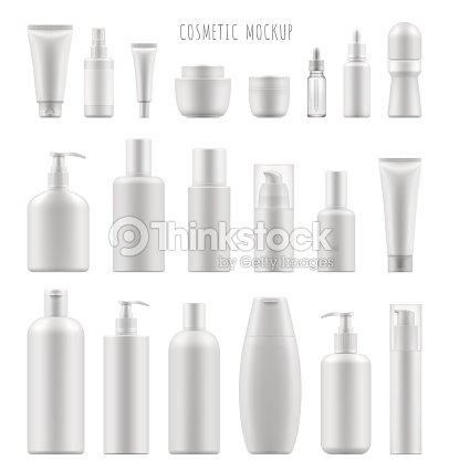 mock-up of cosmetic package : stock vector