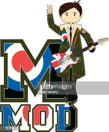 Cool Mod Guitar Learning Letter M Vector Art   Getty Images