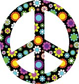mod flower peace sign