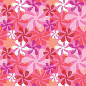 Stylized floral pattern in pink.