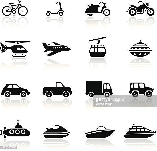 Mode of Transport Icon Set