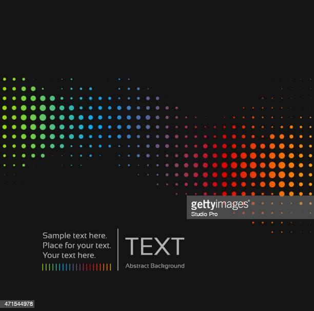 Modern abstract dots assorted in a rainbow colors