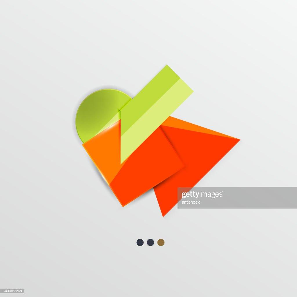 モダンな抽象的な幾何学的情報のバナー : ベクトルアート