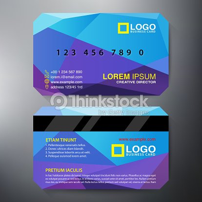 Modern Angular Design Template For A Twosided Business Card Vector - 2 sided business card template