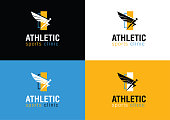 Modern Athletic Sports Clinic Branding Logo With Wing Symbol