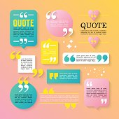 Modern block quote design elements. Creative text template